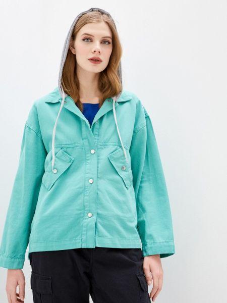 Джинсовая куртка весенняя бирюзовый Dali