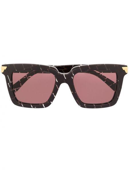 Фиолетовые солнцезащитные очки квадратные Bottega Veneta Eyewear