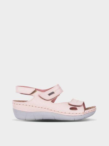 Кожаные сандалии - розовые Gunter