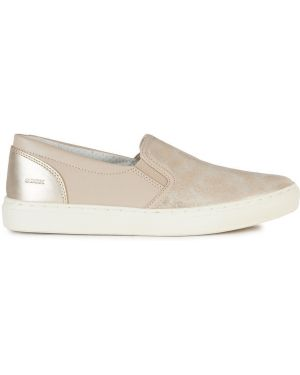 Sneakersy tekstylne ze sztucznej skóry Geox