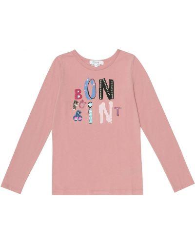 Ватный повседневный хлопковый розовый топ Bonpoint