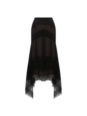 Черная нейлоновая юбка Zuhair Murad