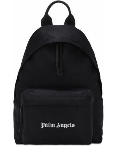 Z paskiem skórzany czarny plecak na laptopa na paskach Palm Angels
