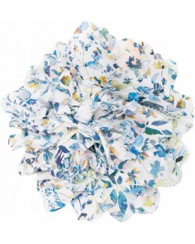 Niebieska broszka bawełniana w kwiaty Zhoe & Tobiah
