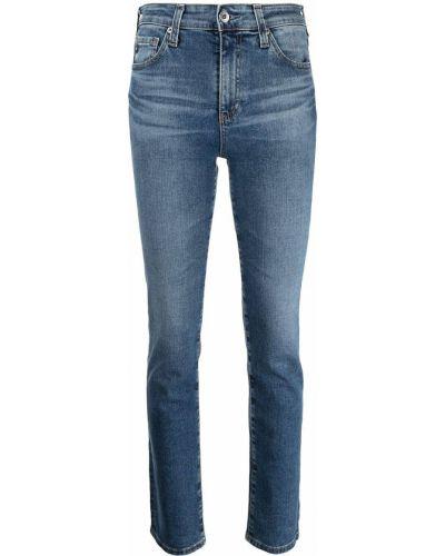 Облегающие зауженные джинсы - синие Ag Jeans