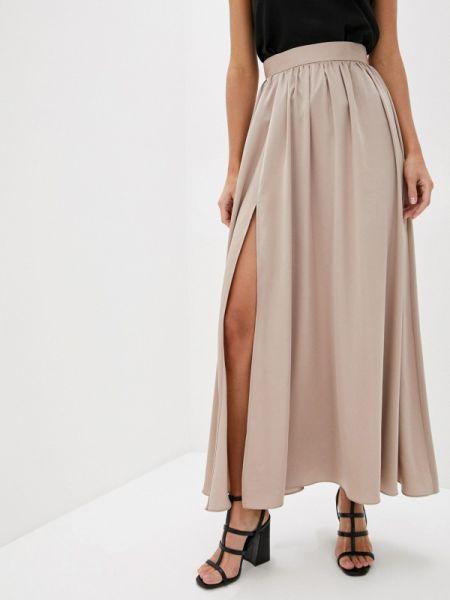 Платье бежевое широкое Trendyangel