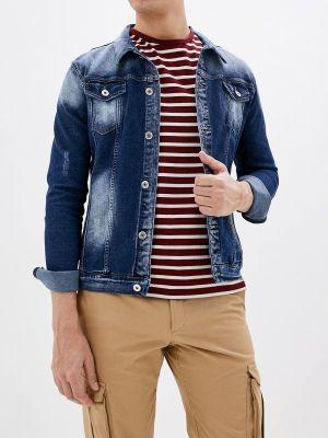 Джинсовая куртка осенняя синяя Ombre