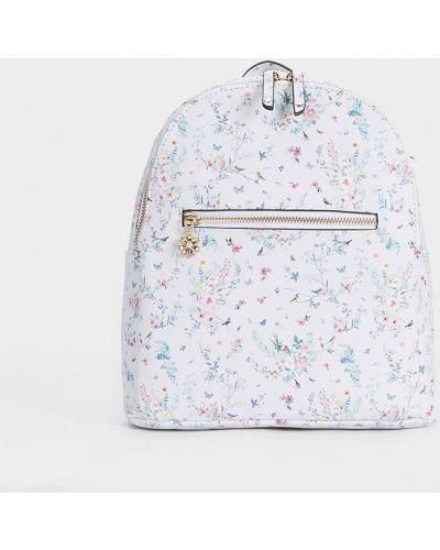 Кожаный рюкзак бежевый Parfois