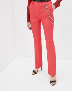 Классические брюки весенний красный Just Cavalli