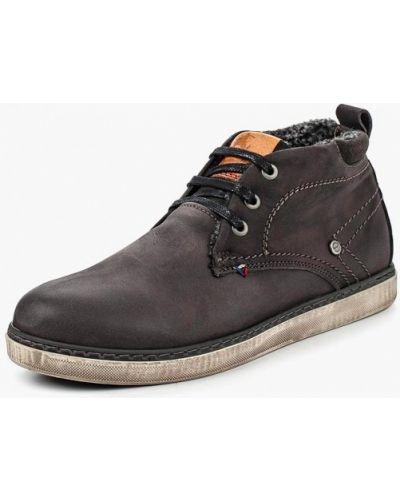 Серые ботинки осенние Wrangler