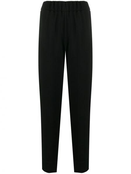 Черные зауженные брюки с карманами на пуговицах Alberto Biani