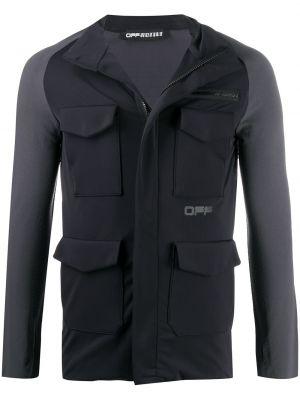 Черная спортивная куртка на молнии с воротником Off-white