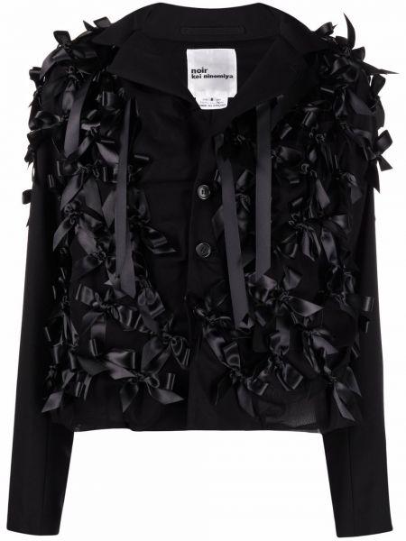 Ватная черная длинная куртка с воротником Comme Des Garçons Noir Kei Ninomiya