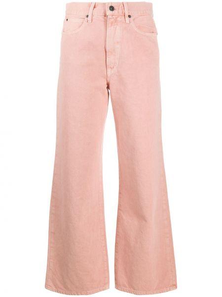 Розовые свободные широкие джинсы свободного кроя на молнии Slvrlake