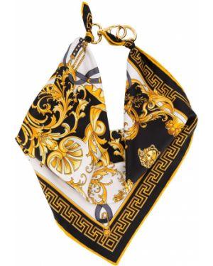 Bandana z nadrukiem żółty Versace