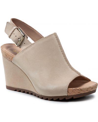 Sandały skórzane - beżowe Clarks