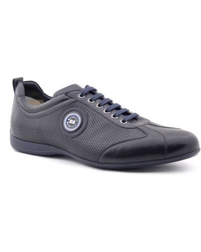 Синие кроссовки с перфорацией Baldinini
