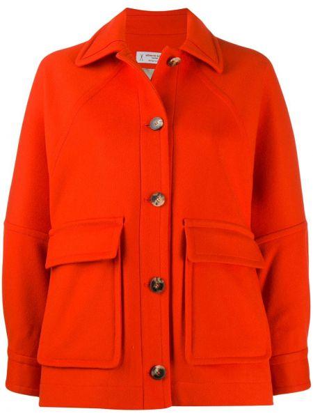 Красная длинная куртка Alberto Biani