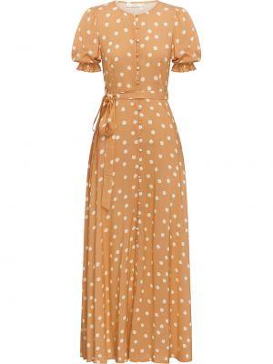 Платье мини в горошек с вырезом на пуговицах Peony