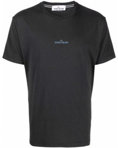 Czarna t-shirt Stone Island