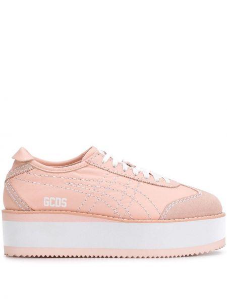 Кожаные кроссовки - розовые Gcds