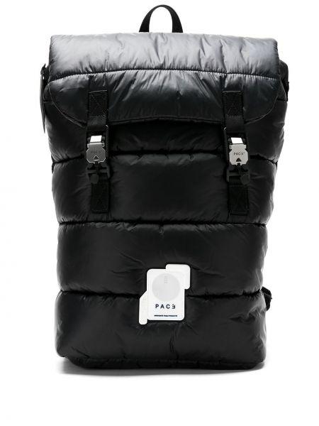 Czarny plecak skórzany pikowany Pace