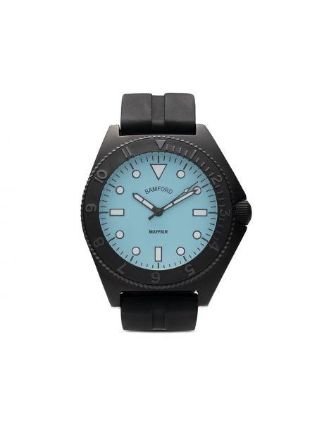 Niebieski zegarek mechaniczny srebrny klamry Bamford Watch Department