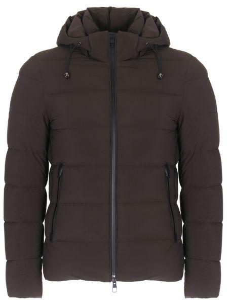Кожаная стеганая куртка на молнии с карманами с воротником Montecore