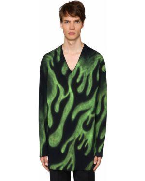 Ażurowy sweter wełniany z dekoltem w serek Balenciaga