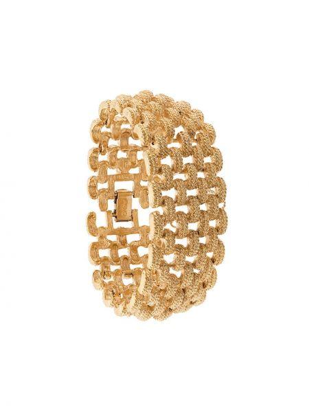 Золотистый желтый золотой браслет Monet Pre-owned