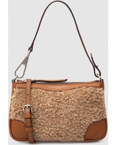 Кожаная сумка через плечо - коричневая Gianni Chiarini