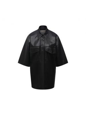 Рубашка с коротким рукавом - черная Nanushka