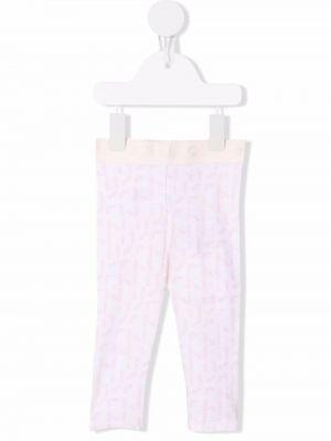 Białe spodnie z printem Kenzo Kids