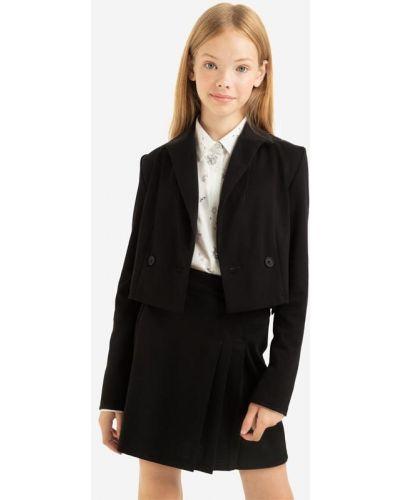 Черный пиджак с воротником Gloria Jeans