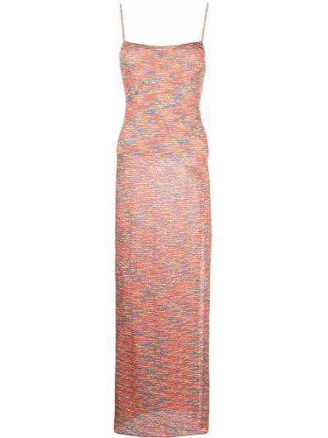 Пляжное платье макси - оранжевое Missoni
