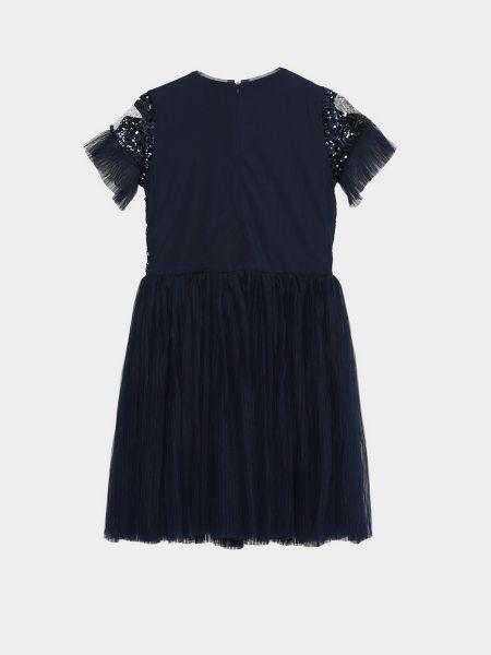 Платье мини короткое - синее Billieblush