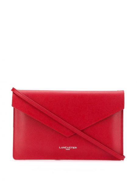 Красная кожаная сумка на плечо Lancaster