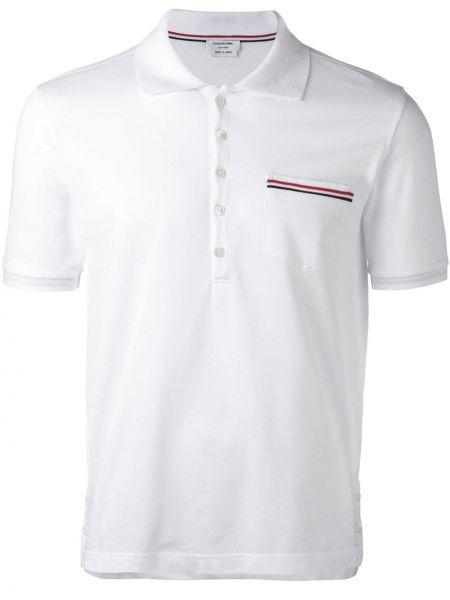 Koszula krótkie z krótkim rękawem z paskami z kołnierzem Thom Browne