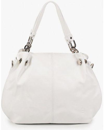 Белая сумка с ручками из натуральной кожи Roberto Buono