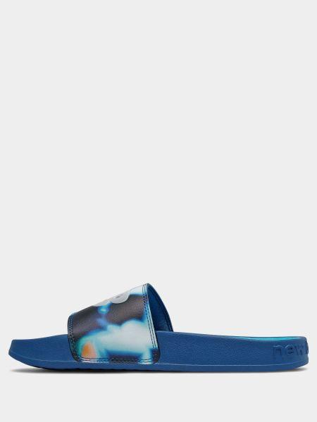 Синие шлепанцы New Balance