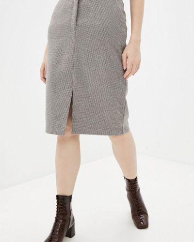 Коричневая прямая юбка карандаш Zarina