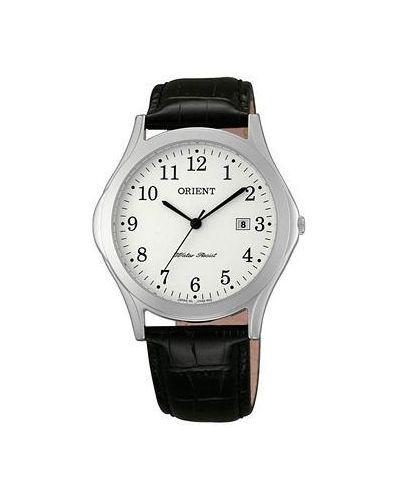 Часы с кожаным ремешком кварцевые Orient