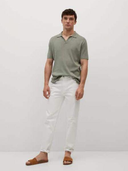 T-shirt materiałowa - khaki Mango Man