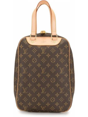 Кожаная коричневая сумка-тоут винтажная Louis Vuitton