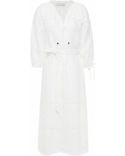Льняное платье миди - белое Heidi Klein