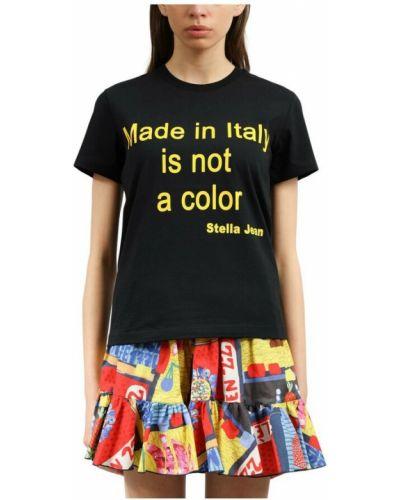 Czarna t-shirt Stella Jean