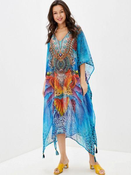 Пляжное платье синее индийский Indiano Natural