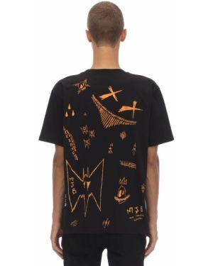 Czarna koszula bawełniana z printem Mjb Marc Jacques Burton