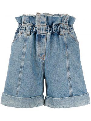 Синие джинсовые шорты с карманами с отворотом Philosophy Di Lorenzo Serafini