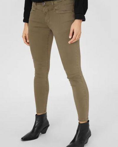 Зеленые джинсы с поясом узкого кроя C&a